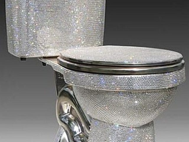 Swarovsky-Encrusted Toilet Covers All Of Toilet, Not Just Insides, In Crap