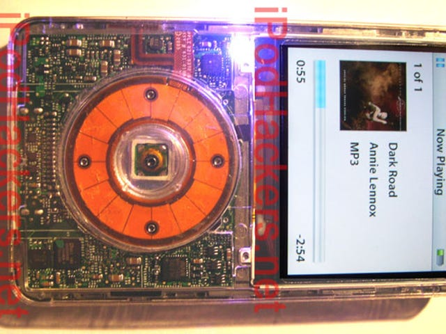 iPod Video 5G Hacked with Bluetooth Module