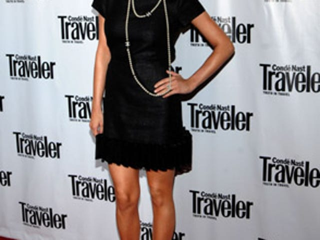 Ashlee Simpson Looks Cute, Not Pregnant, At Conde Nast Traveler Party
