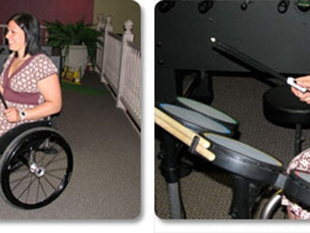 Rock Band Drum Kit Gets Wheelchair Accessible (With How To)