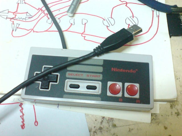 DIY NES USB Controller Plays Games, Contains Emulator For Playing More Games