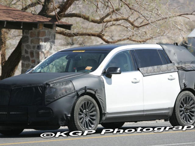 Lincoln MKT Spotted Testing In Hot Desert Sun