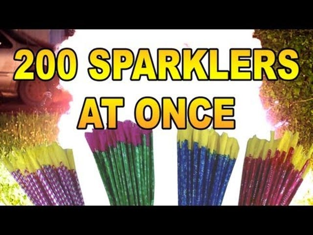 It Only Takes 200 Sparklers For a Blinding Inferno of Festive Fun
