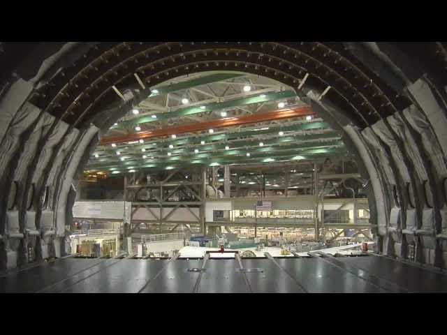 Time lapse video of Boeing 777 assembly
