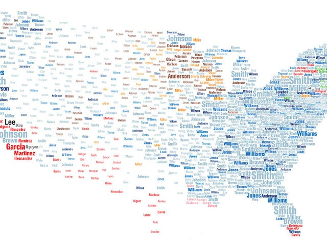 Interactive map reveals the most common surnames in the U.S.