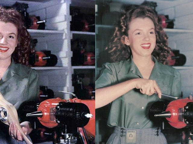 Marilyn Monroe Assembled Drones During World War II