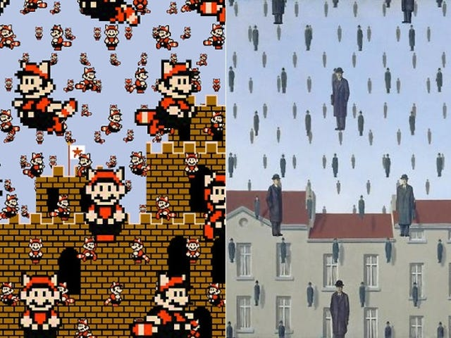Famous Surrealist Art Amazingly Reimagined with Super Mario Bros