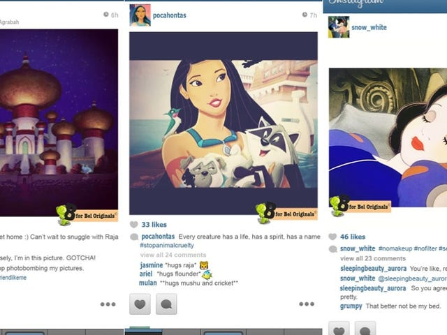 If Disney Princesses Had Instagram, They'd Be Just Like Us