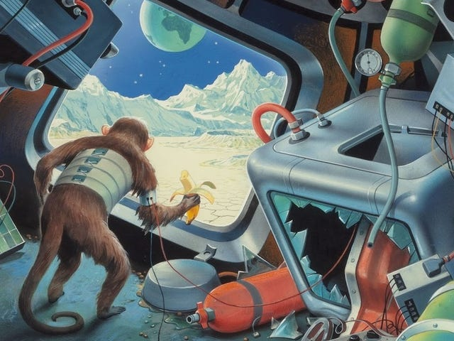 Concept Art Writing Prompt: A Monkey Lands on the Moon
