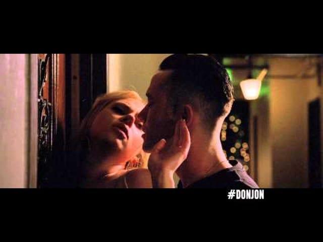 Joseph Gordon-Levitt and Scarlett Johansson Swap Spit in Don Jon
