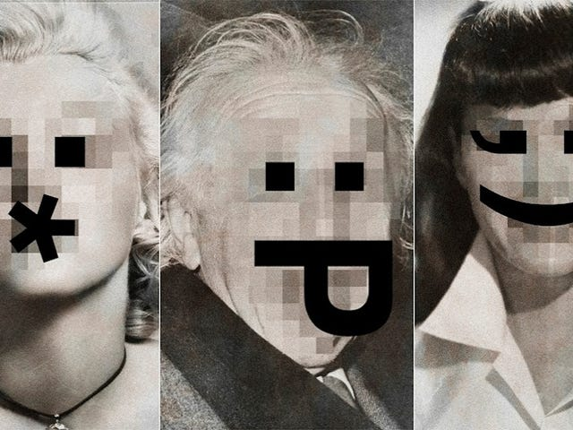 Replacing the Faces of Iconic Celebrities with Emoticons Is Stupid Fun