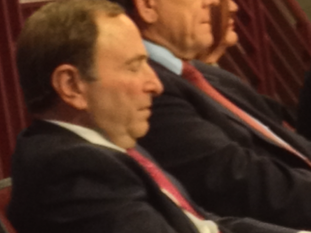 Gary Bettman Enjoys Himself At Opening Night