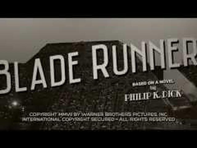 Blade Runner Gives Up, Goes 100% Noir