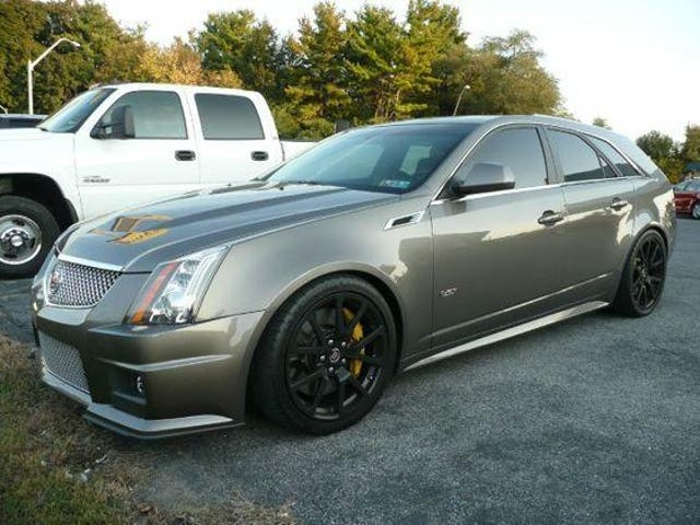 Manual CTS-V Wagon for sale where I live, and me without the $56k they're asking