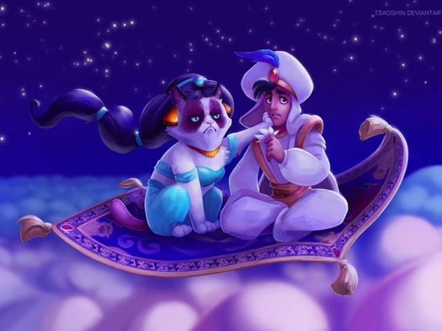 Grumpy Cat as Disney Princesses Is the New End of the Internet