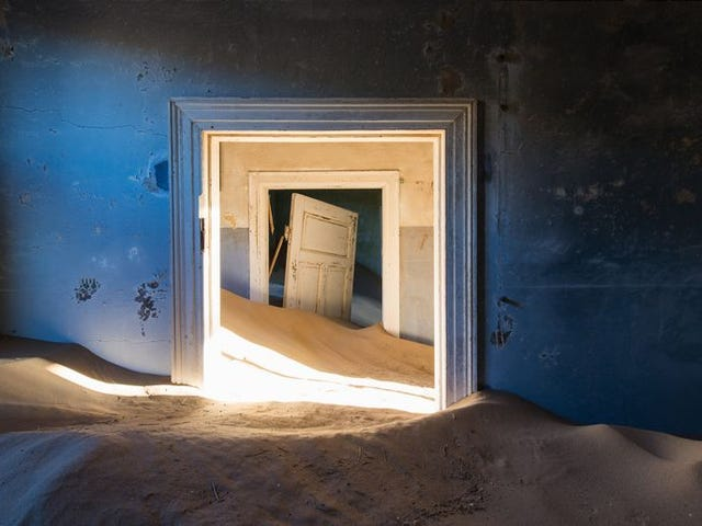 Nothing but the desert lives in these surreal abandoned homes