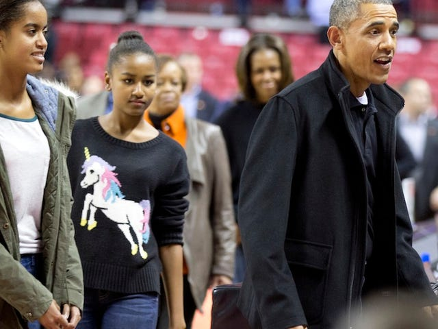 Sasha Obama Causes Nationwide Unicorn Sweater Shortage