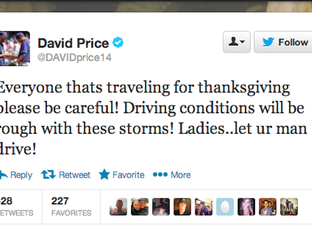 Baseball Star's Holiday Safety Tip: 'Ladies, Let Ur Man Drive'