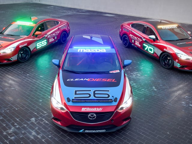 Mazda6 Skyactiv-D Clean Diesel Racecars To Tackle Thunderhill 24-Hour