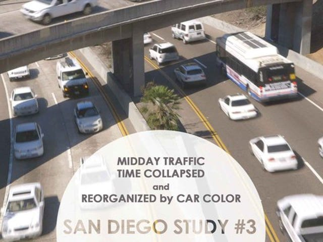 San Diego traffic, organized by color, is surprisingly hypnotic