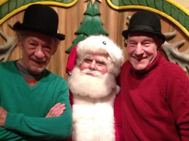 BFFs Patrick Stewart and Ian McKellen Take World's Cutest Santa Photo