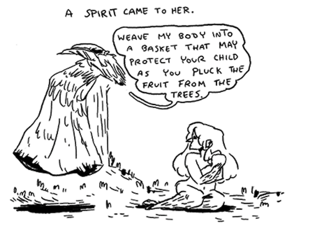 A bittersweet webcomic fairytale about a spirit who aids a mother