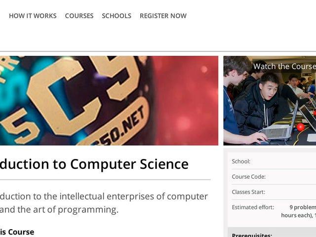 Навчіться коду в Гарварді безкоштовно