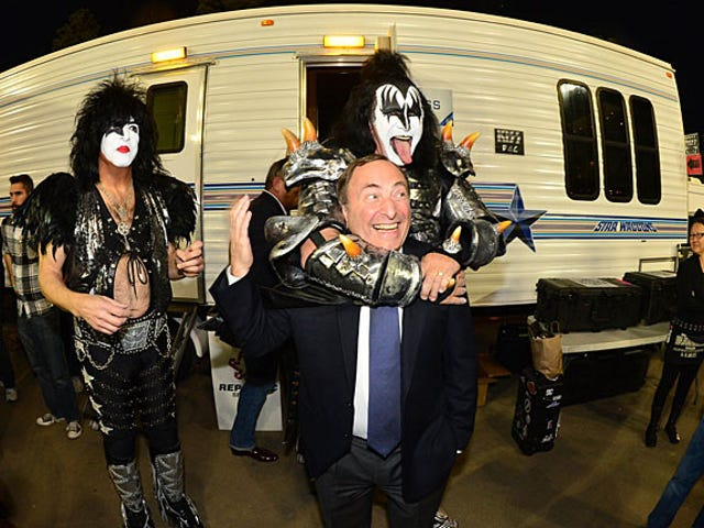Here Is An Important Photo Of Gary Bettman and KISS