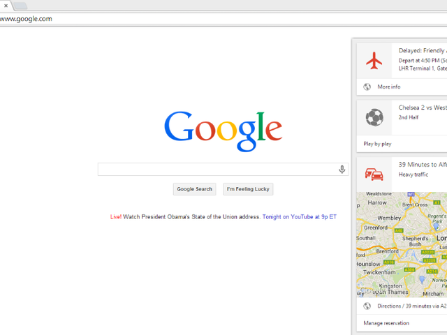 Google Now in New Chrome Beta