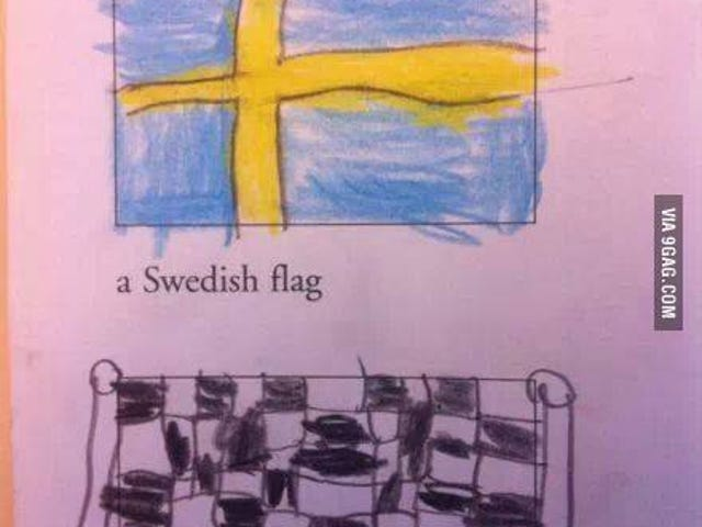 The flag of Finland as imagined by a child