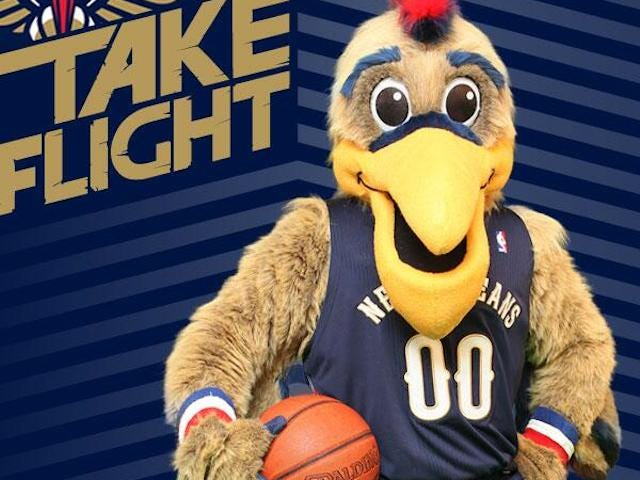 Pierre The Pelican Looks Like A Normal Mascot Now