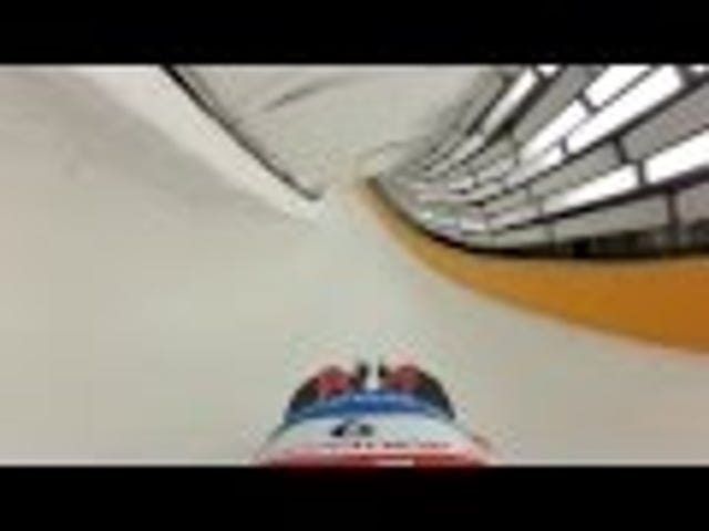 What it looks like to go down a luge track at a blazing 80mph