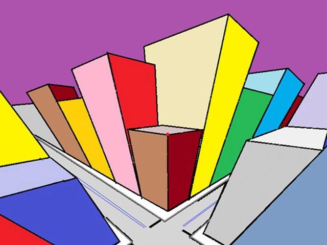 Deja que tus ojos coloreen una imagen blanca en esta ilusión óptica