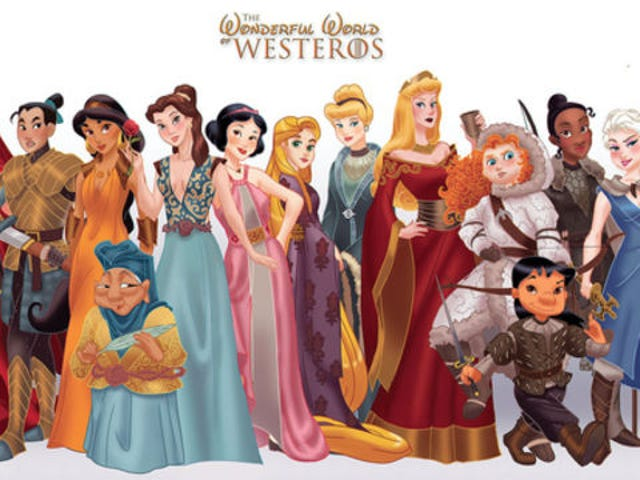Artist Reimagines Disney Princesses as Game of Thrones Characters