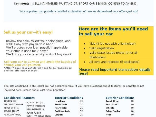 Got my car appraised at Carmax