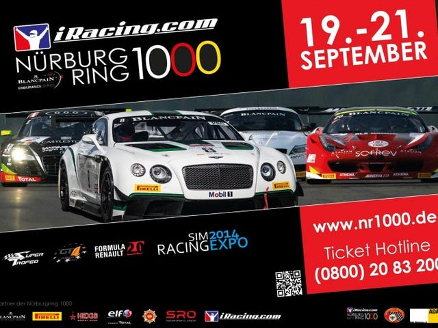 iRacing Sponsors Blanpain Endurance Series Nurburgring 1000