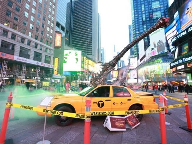 Blizzard have planted an Axe in a Times Square Taxi, because Warcraft