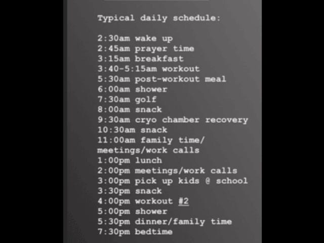My Typical Daily Schedule