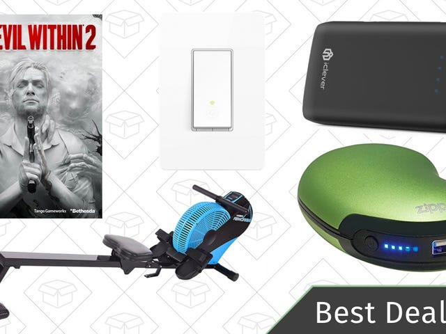 Thursday's Best Deals: Smart Switches, Air Rower, The Evil Within 2, And More