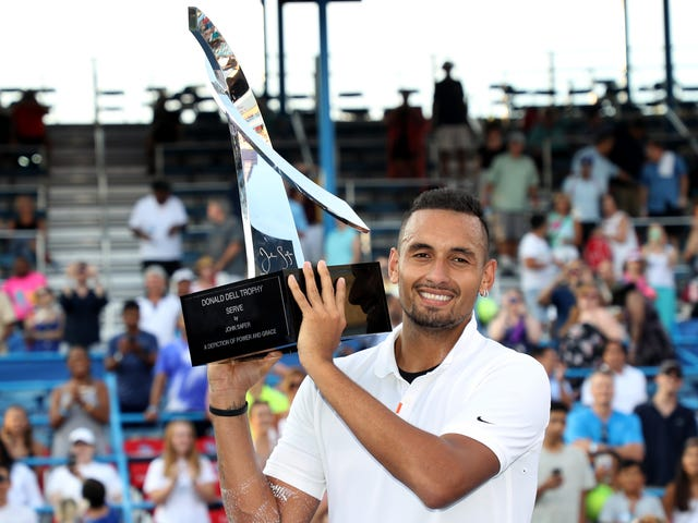 Nick Kyrgios Won Another Title By Keeping Himself Entertained