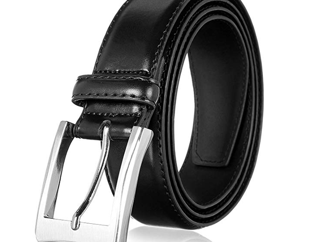 50% off Men's Genuine Leather Dress Belt with Premium Quality - Classic $7.48