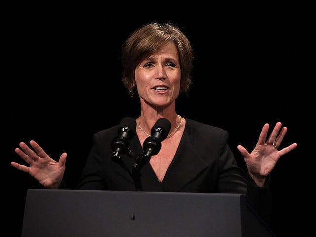 Why Is the Justice Department Trying to Silence Sally Yates?