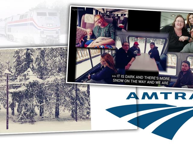 Pociąg Amtrak utknął w śniegu w Oregonie od niedzieli
