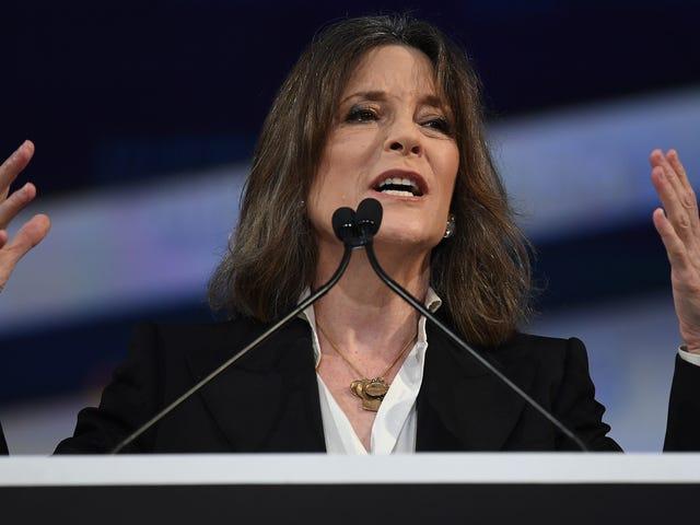 Prepara i cristalli: Marianne Williamson sospende la sua campagna presidenziale