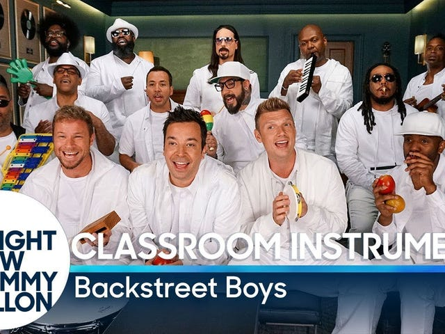 The 10 Most Awesome Parts of The Roots x Backstreet Boys x Jimmy Fallon's 'I Want It That Way' Classroom-Instruments Video
