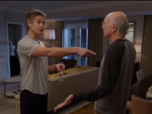 Curb Your Enthusiasm tries to make us question Timothy Olyphant's inherent likability