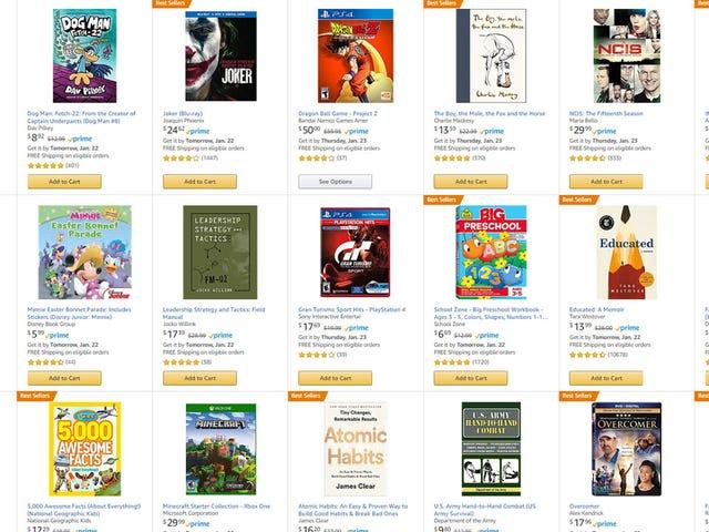 Osta 3 nimeä, hanki yksi niistä ilmaiseksi (mukaan lukien pelit) Amazonilla