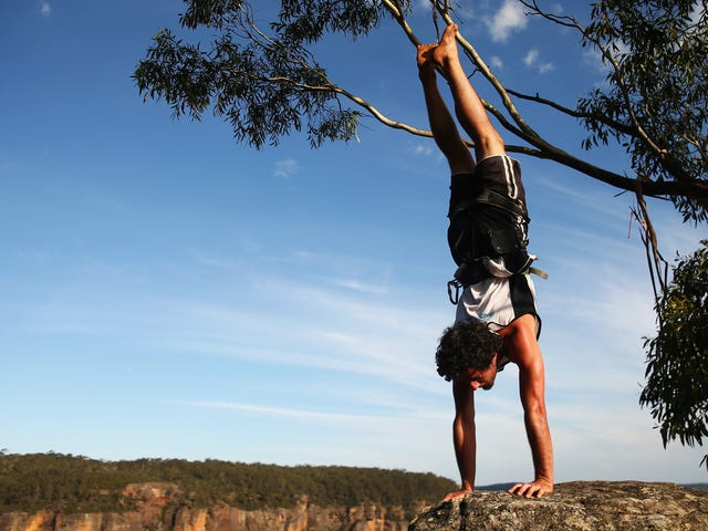 How to Approach Handstands When You're Still Kinda Scared of Them