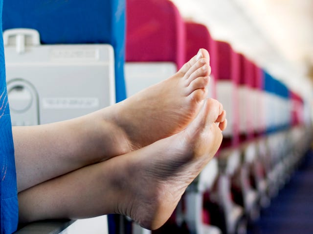 No One Wants To See Your Feet On A Flight