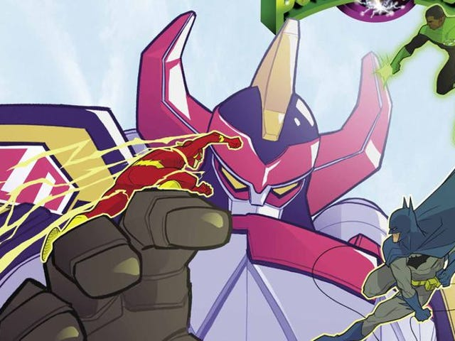 Power Rangers meet DC heroes in this Justice League/MMPR #3 exclusive